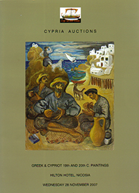Cypria auctions - 19th and 20th Century Greek and Cypriot art - 28 November 2007 Auction