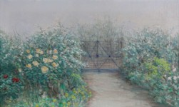 Nikolaos MAGIASSIS - Garden with rose bushes
