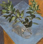 Marcos KAMPANIS - Vase with leaves in blue I