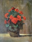 Lambros GRIVAS - Still life with carnations