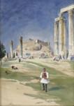 Warwick Herbert DRAPER - Acropolis & Temple of Zeus