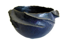 Deirdre BURNETT Τwο small ruffel pots, c.1985-