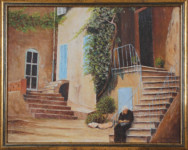 Rossides - Grandmother seated at the steps of her house