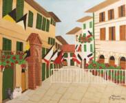 1 THRAKI ROSSIDOU JONES - A street of San Gimignano, Tuscany