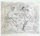 105 KIKI ETCHING - Dancing Figures (Carmina Burana)