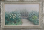 Nikolaos MAGIASSIS - Garden with rose bushes (with frame)