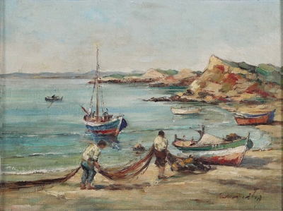 Victor IOANNIDES - Gathering the fishing nets