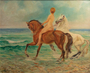 46.1 ALEXANDRAKIS - Nude with horses by the sea